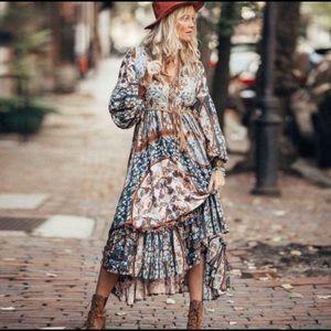 Floral Print Boho Maxi Dress Size M, L or XL